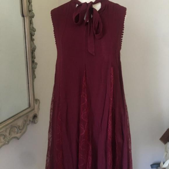 Xhilaration Dresses & Skirts - Sleeveless dress by xhilaration, Wine color w/lace